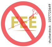 no fee or cut fee on isolated...   Shutterstock .eps vector #1057723649