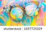 ice cream rainbow topview | Shutterstock . vector #1057725329