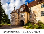jaunpils castle is a fortified... | Shutterstock . vector #1057727075