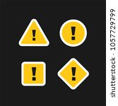 collection of attention signs... | Shutterstock .eps vector #1057729799