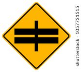 highway intersection ahead road ... | Shutterstock .eps vector #1057731515