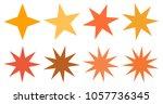 set of vector starburst ... | Shutterstock .eps vector #1057736345