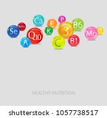 vitamins and minerals.... | Shutterstock .eps vector #1057738517