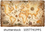 a large vintage  ancient world... | Shutterstock . vector #1057741991