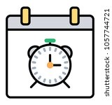 line icon time management ... | Shutterstock .eps vector #1057744721