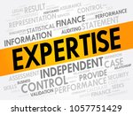 expertise word cloud collage ... | Shutterstock .eps vector #1057751429