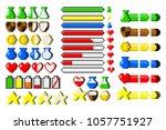 big set of 8 bit elements  life ... | Shutterstock . vector #1057751927