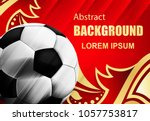 soccer sport background with... | Shutterstock .eps vector #1057753817