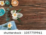 beautiful spa composition on...   Shutterstock . vector #1057759961