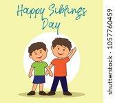 happy sibling's day concept.... | Shutterstock .eps vector #1057760459
