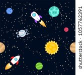 seamless background of space... | Shutterstock . vector #1057762391