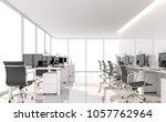 minimal style office 3d render... | Shutterstock . vector #1057762964