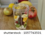 smoothie maker mixer with... | Shutterstock . vector #1057763531