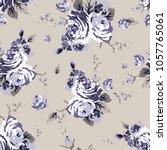 shabby chic vintage roses... | Shutterstock .eps vector #1057765061