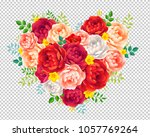 red  purple  pink and white... | Shutterstock .eps vector #1057769264