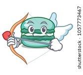 cupid macaron character cartoon ... | Shutterstock .eps vector #1057773467