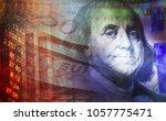 one dollar detail. macro image. | Shutterstock . vector #1057775471