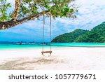 landscape of natural white san... | Shutterstock . vector #1057779671