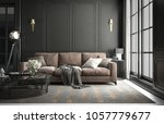 interior living room studio ... | Shutterstock . vector #1057779677