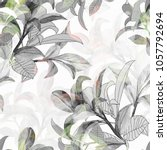 watercolor seamless pattern of... | Shutterstock . vector #1057792694