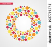 orange yellow red and blue... | Shutterstock .eps vector #1057798775