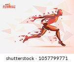 running man  sport and... | Shutterstock .eps vector #1057799771