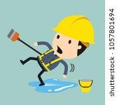 slip and fall  vector... | Shutterstock .eps vector #1057801694