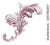 flower pattern engraving scroll ... | Shutterstock . vector #105780347