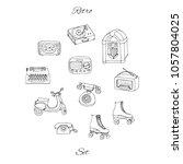 vector retro set with antique... | Shutterstock .eps vector #1057804025