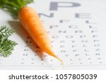 carrot vitamin a and eye test... | Shutterstock . vector #1057805039
