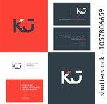 letters k j  k   j joint logo... | Shutterstock .eps vector #1057806659