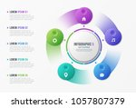 rotating circle chart template... | Shutterstock .eps vector #1057807379