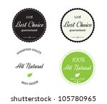 guarantee labels | Shutterstock .eps vector #105780965