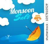 monsoon sale poster or banner... | Shutterstock .eps vector #1057810529