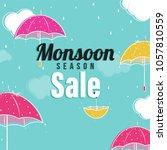 monsoon season sale concept...   Shutterstock .eps vector #1057810559