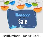 monsoon season sale poster  or... | Shutterstock .eps vector #1057810571