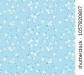elegant floral pattern in small ... | Shutterstock .eps vector #1057820807