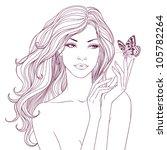 beautiful young fashion woman... | Shutterstock . vector #105782264