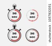 timer 36 seconds on gray... | Shutterstock .eps vector #1057832051