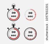 timer 38 seconds on gray... | Shutterstock .eps vector #1057832201