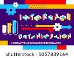 interface optimization concept... | Shutterstock .eps vector #1057839164