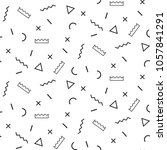 memphis style seamless pattern. ... | Shutterstock .eps vector #1057841291
