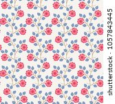 seamless natural pattern with... | Shutterstock .eps vector #1057843445