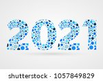 2021 happy new year abstract... | Shutterstock .eps vector #1057849829