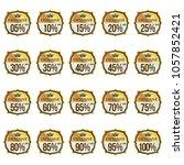 elegant golden sale labels... | Shutterstock .eps vector #1057852421