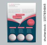 flyer template. design for a... | Shutterstock .eps vector #1057854845