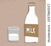 vector illustration of bottle... | Shutterstock .eps vector #1057860317