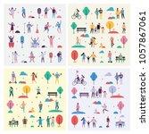 set of vector backgrounds in... | Shutterstock .eps vector #1057867061