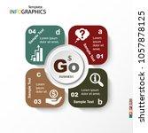 infographic  geometric graph ... | Shutterstock .eps vector #1057878125