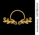 luxury floral logo   Shutterstock .eps vector #1057881314